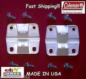 COLEMAN PLASTIC COOLER 2 HINGES 8 SCREWS #6262-1141 ICE CHEST HINGE REPLACEMENT