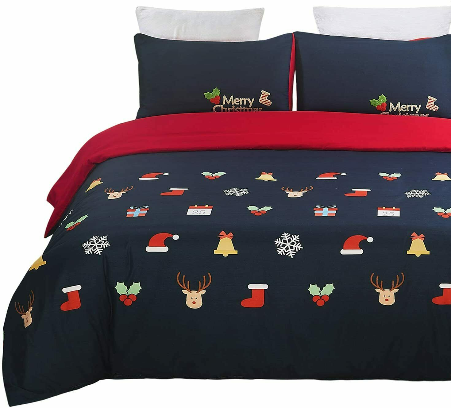 Vaulia Home Collection King Duvet Cover Set BS620K Christmas