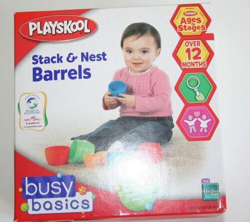 Playskool Toy Nesting Stacking Barrels Stacking Blocks Toddler Toy SHIPS FREE!