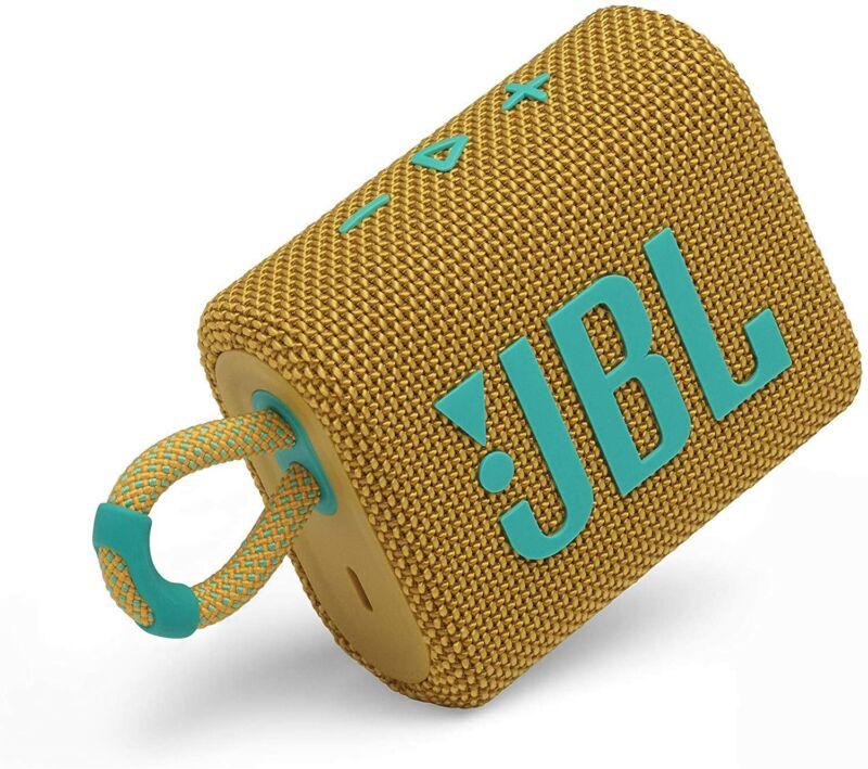 JBL Go 3 Portable Bluetooth Speaker -Yellow (JBLGO3YELAM)