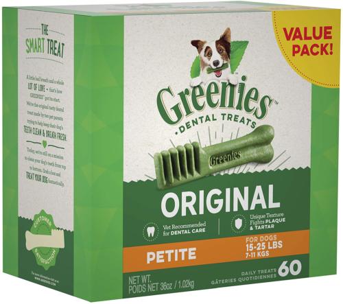 Greenies Original Petite Natural Dental Dog Treats 15 - 25 Lb. Dogs  - $29.19