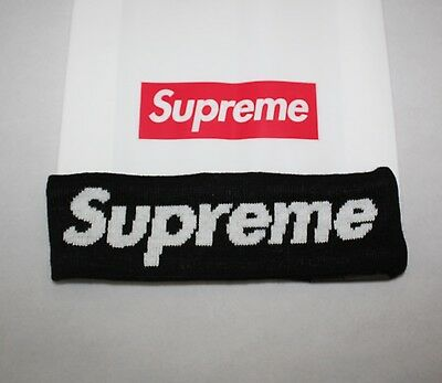 Supreme 2014 FW Era Logo Fleece Lined Black Headband