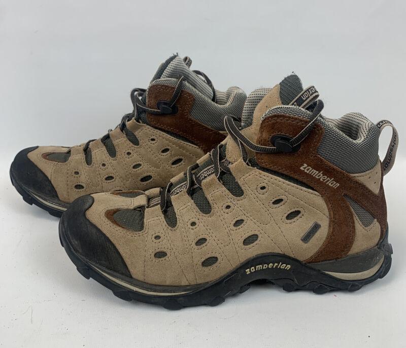 Zamberlan Gore-Tex Rica Mid GT hiking boots Beige Brown EU 41 UK 7.5 EXC cond