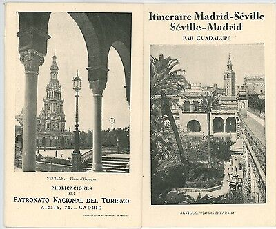 1930s Spain Travel Brochure Trips Between Madrid & Seville Spanish Tours