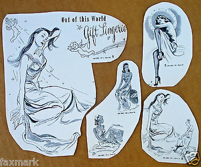 """""""Gift Lingerie"""" Ad Cuts from Dec. 1947: Stamps-Conhaim Company"""