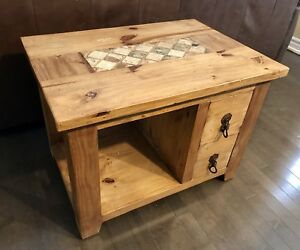 Solid Pine End Table