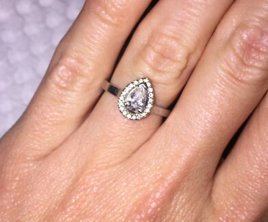Platinum Pear cut Diamond Engagement Ring Leeming Melville Area Preview