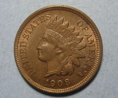 1908 Indian Cent – Choice Borderline Uncirculated (ANACS AU 55) !