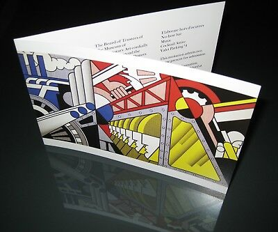 """Roy Lichtenstein"" Cover Invite at MOCA. -- Organized by GUGGENHEIM Museum"