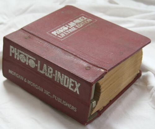 Vintage Photo Lab Index book Lifetime Edition Morgan John Carroll 1967 darkroom