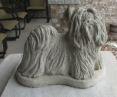 CONCRETE SHIH TZU STATUE OR USE AS A MONUMENT