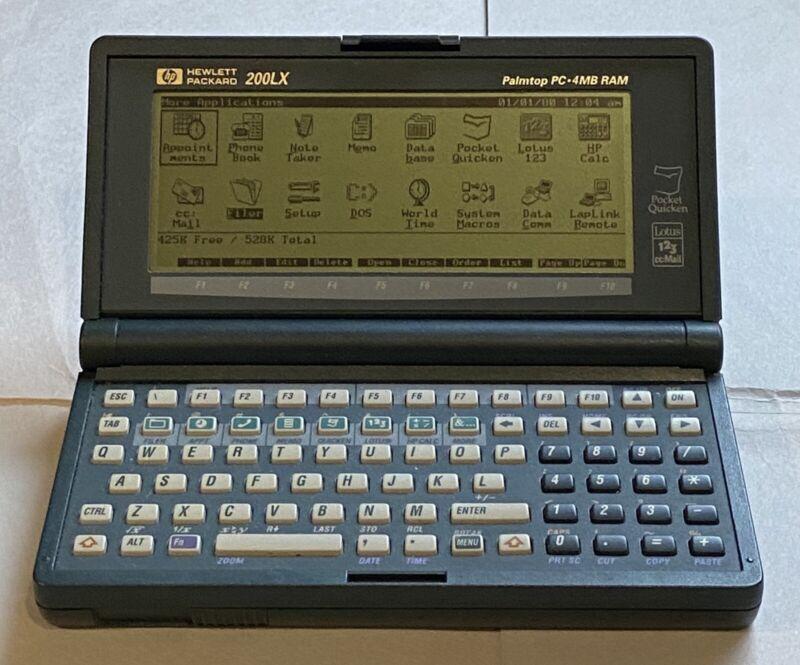 Vintage HP 200LX Palmtop PC 4MB RAM
