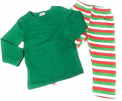 Toddler Christmas Pajamas Boutique (Adult Family Boy Girl Christmas Blank Green Pajamas Boutique Outfit Kid)