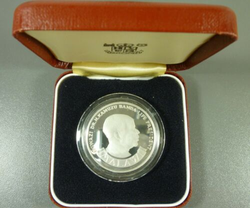 MALAWI 1975 10 Kwacha Silver Crown Deep Cameo Proof With Case