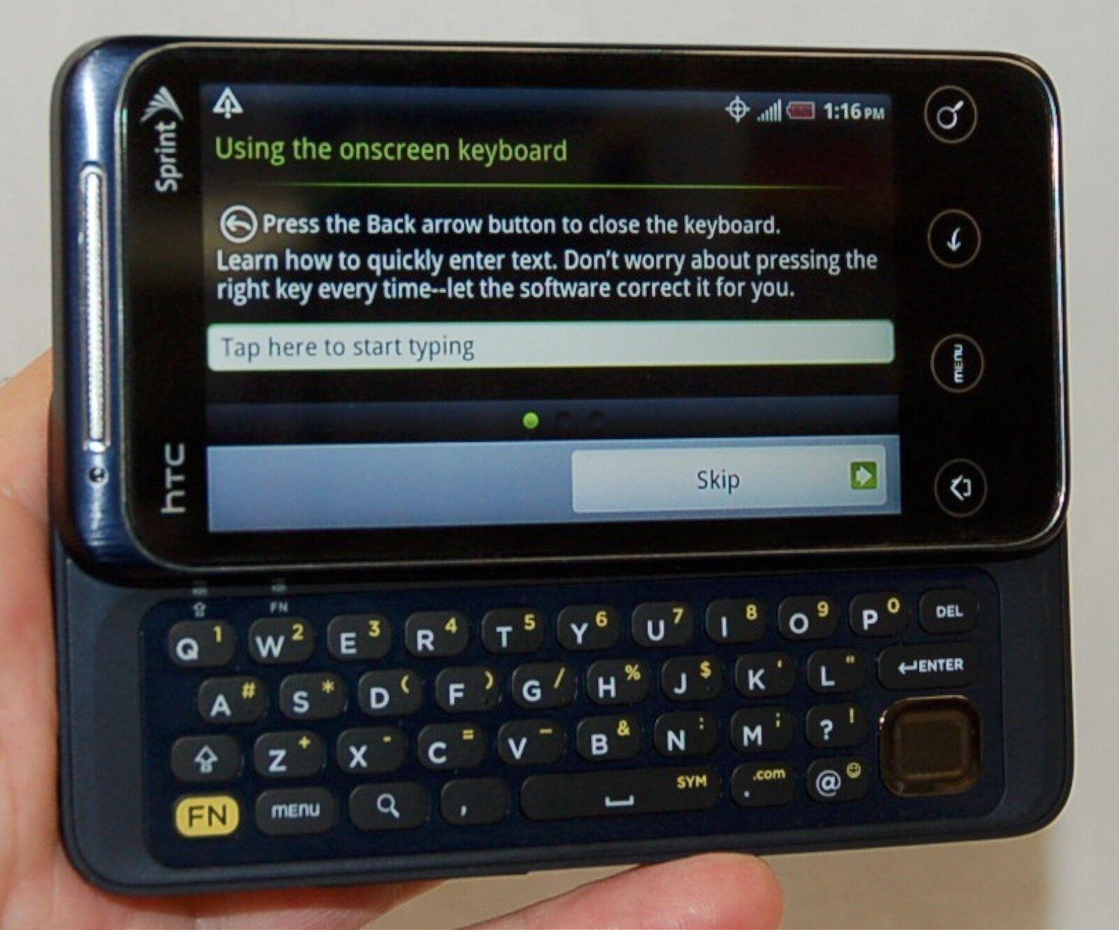 htc evo shift 4g droid sprint blue android cell phone pg06100 wifi rh ebay com Sprint HTC EVO 4G Cases HTC EVO 4G White