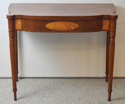 Antique American Federal Inlaid Sheraton Game Table Circa Early 1800s