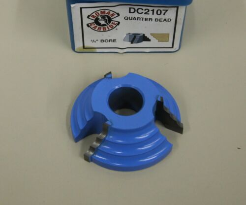"ROMAN CARBIDE DC 2107 QUARTER BEAD 3/4"" BORE SHAPER CUTTER"