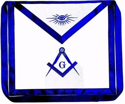 Masonic Square Compass Apron EMBROIDERED Blue Lodge Fraternity DMA-1000