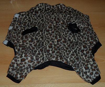 Hundemantel Hundekostüm Hunde Fleece Mantel Leopardenmuster Gr. M Länge 36 cm
