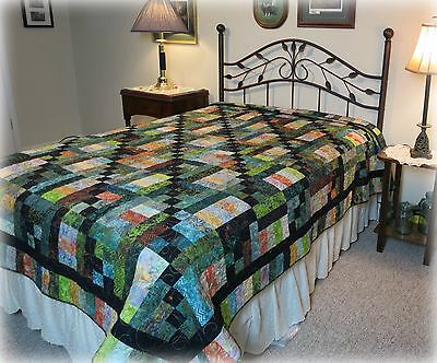 Woodland Daybreak Quilt Pattern~FAST~VERY EASY~beginner-twin~queen~king (Easy Quilt Pattern)