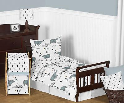 Sweet Jojo Blue Bear Mountain Outdoor Toddler Boy Comforter