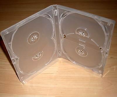 DVD Hülle Case Cases 4fach 4er DVDhülle Hülle durchsichtig für 4 DVDs 15mm Neu