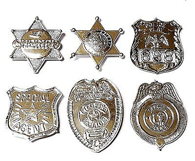6pc 3-4CM Plastic Sheriffs Badges Police Birthday Party Favor Pinata Bags Filler