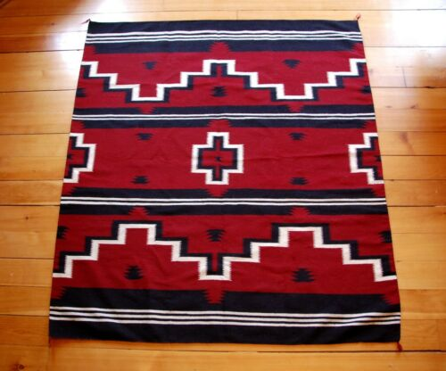 "Navajo Weaving Late 20th Century, Pinetree Pattern, Mint Condition 69"" x 62"""