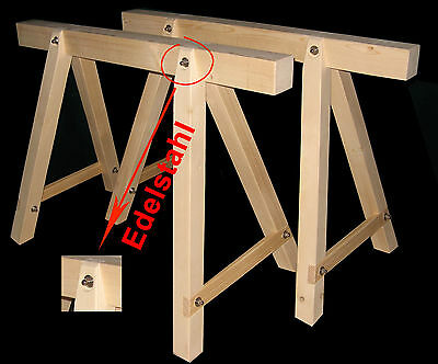 Steinmetzwerkzeug, 2 neue Holzböcke,Arbeitsbock,Stützbock,Montagebock,Gerüstbock