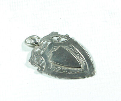 Edwardian Silver Watch Fob WA Birmingham 1917 5g AZX