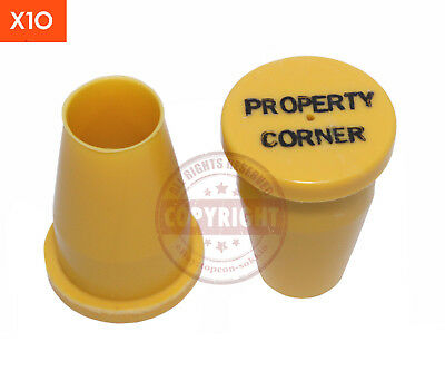 12 Yellow Surveyors Property Corner Capssurveyingboundarysurveymarker