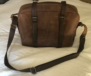 premium buffalo leather german made briefcase NEW