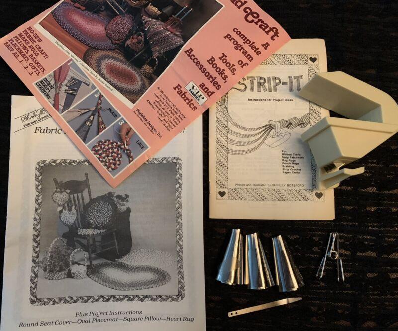 SHIRLEY BOTSFORD Strip-It FABRIC CUTTING TOOL & 3 VARIFOLDERS LOT Booklets