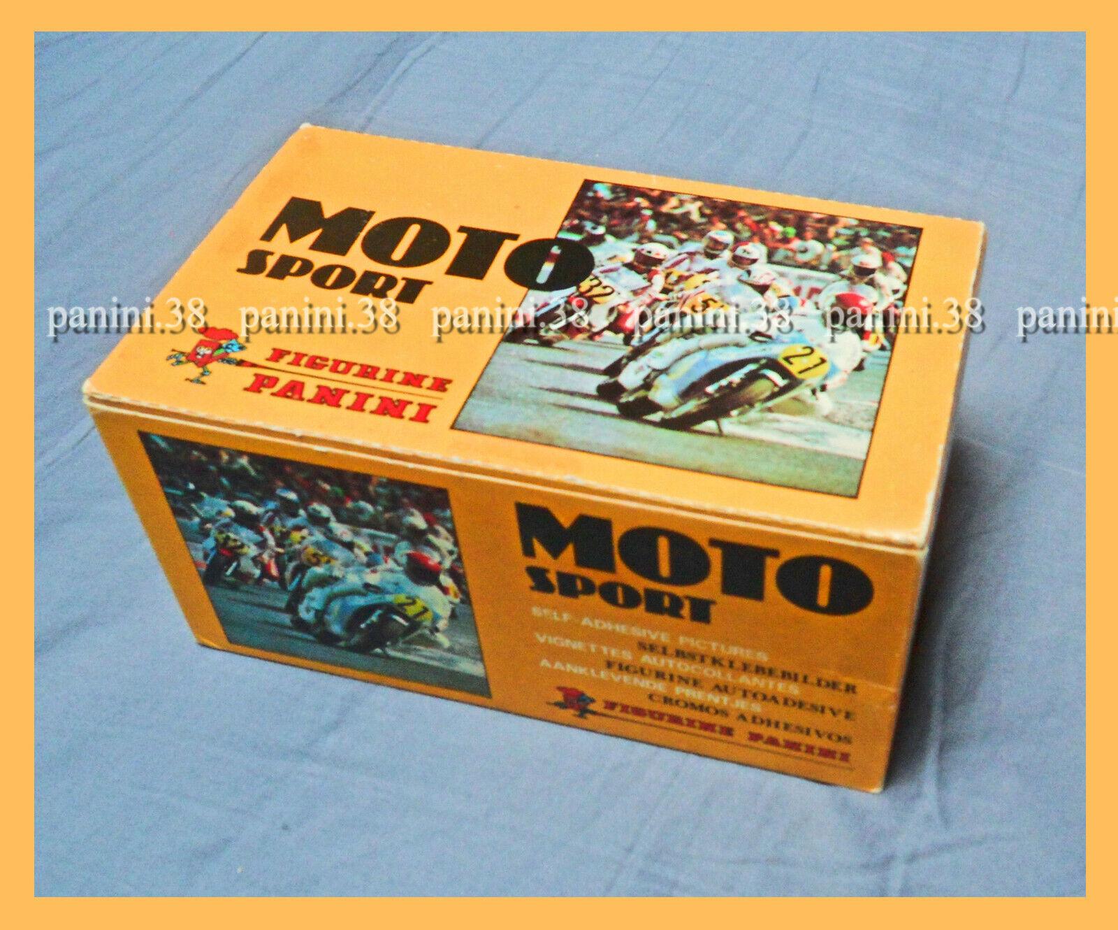 "Ultra rare !! box 100 pochettes ""moto sport 1979"" packets, tüten, display panini"