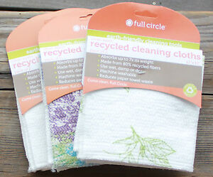 2-PACK-RECYCLED-CLOTH-DISH-KITCHEN-TOWEL-Absorbent-Cotton-full-circle-Tea-hand