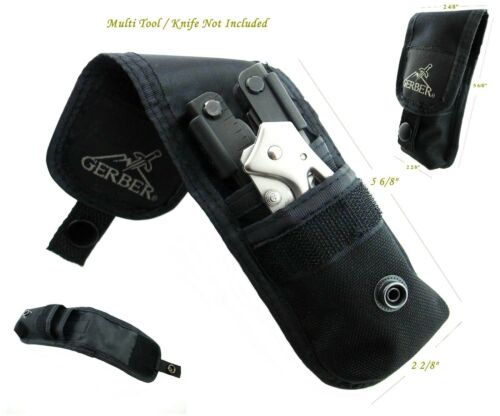 2 POCKETS GERBER KNIFE & MUTILTOOL POUCH/SHEATH FIT FOR MP800, MP600,06 AUTO NR