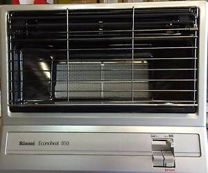 2 x Shop Soiled Rinnai Econoheat 850 - Silver - Natural Gas Caringbah Sutherland Area Preview