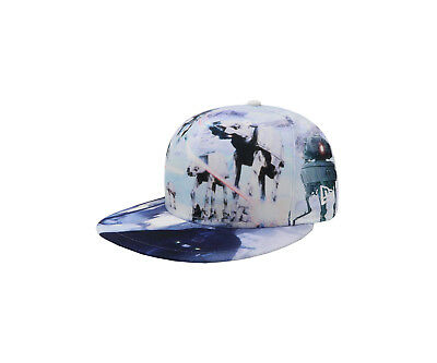 New Era 59Fifty Cap Star Wars All Over Battle Fitted White Sky Print 5950 Hat 59fifty White Hat