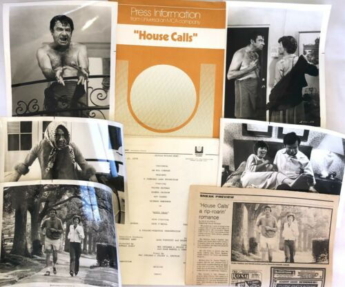 """HOUSE CALLS"" ORIGINAL MOVIE PRESS KIT! EXTREMELY RARE, 1976, WALTER MATTHAU!"