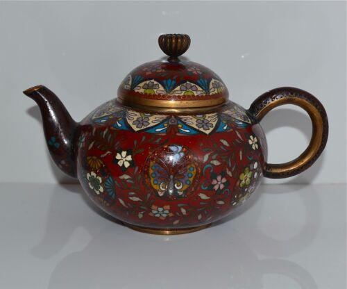 Good Quality Small Antique Japanese Cloisonne Teapot Meiji