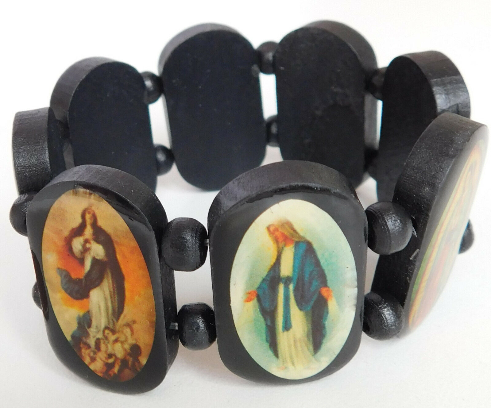 Catholic icon bracelet Traditional saints pictures Religious prayer jewellery