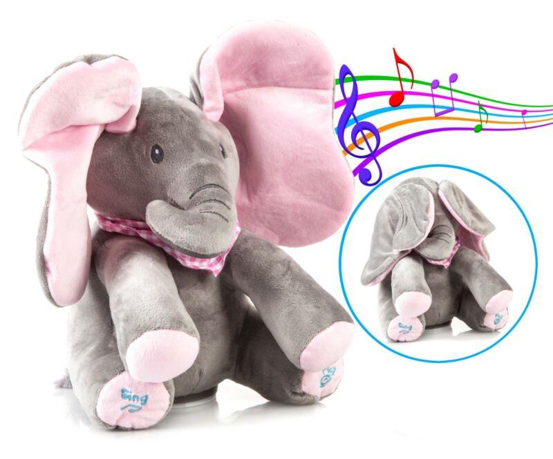 Peek-a-Boo Animated Talking Singing Elephant Plush Stuffed Child Toy Gift USA