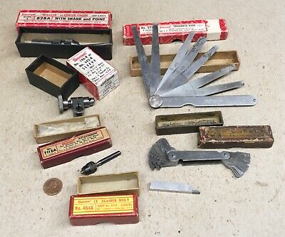 Six Starrett Machinist Tools With Boxes