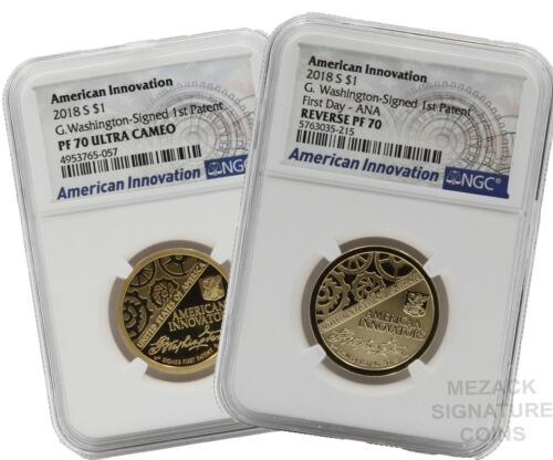 2018 Reverse PF70 First Day - ANA and PF70 Pair American Innovation NGC