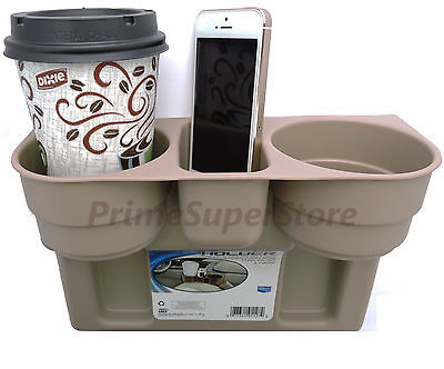 2 Cup Holder Drink Beverage Seat wedge Car Truck RV 1 Tan /Brown Universal Mount