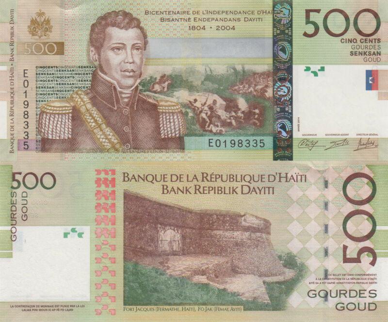 Haiti 500 Gourdes (2014) - Alexandre Petion/Fort/p277e UNC