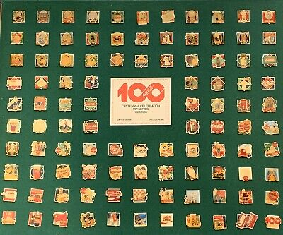 Vintage COCA-COLA 100 Years Centennial Celebration Pin Series Set 1886-1986