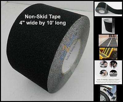 4 X 10 Non Skid Tape Black Roll Safety Anti Slip Sticker Grip Safe Grit