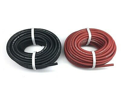 New 25 Ft Black And 25 Ft Red Flexible High Voltage 18 Awg Test Lead Probe Wire
