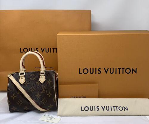 Louis Vuitton Nano Speedy Bandouliere Bag Monogram Crossbody NEW SOLDOUT FRANCE